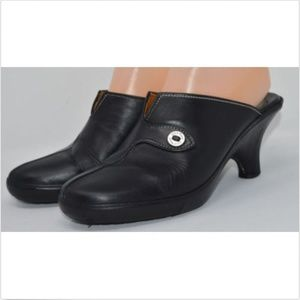 COLE HAAN Black Leather Shoes Mules Clogs 8 M